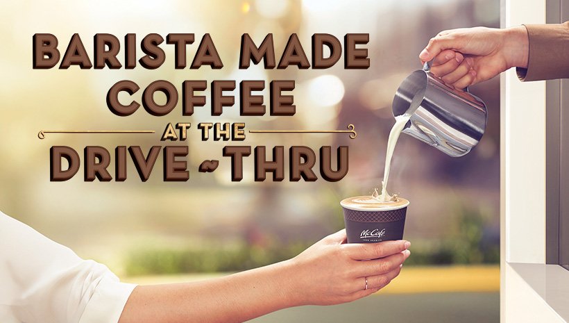 Barista-made coffee at the drive-thru