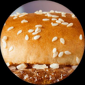 Close up of burger bun