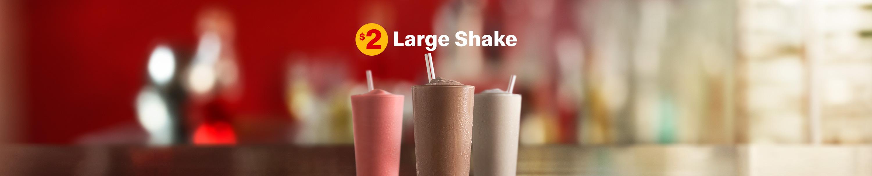 $2 large shake