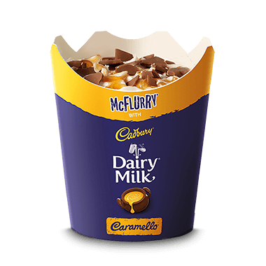McFlurry® with Dairy Milk CADBURY CARAMELLO®