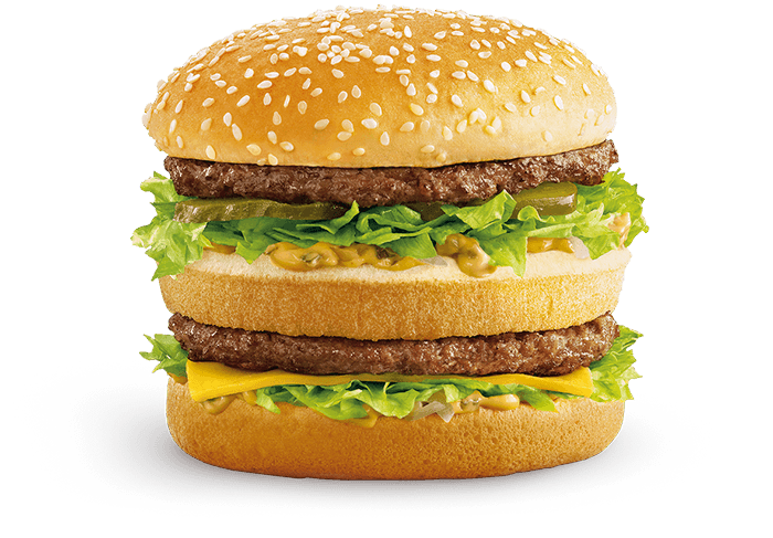 Big Mac with two Aussie beef patties, onions, pickles and signature sauce