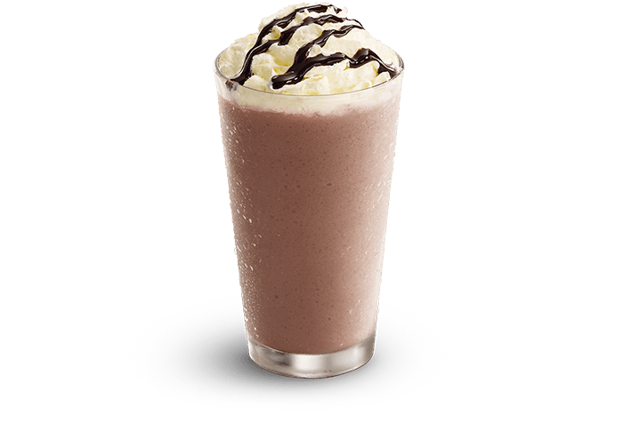 Choc Whirl Frappe - Freshly blended chocolate explosion topped with cream and Choc Drizzle