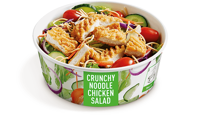 Noodle Chicken Salad with crispy or grilled 100% Australian chicken ...