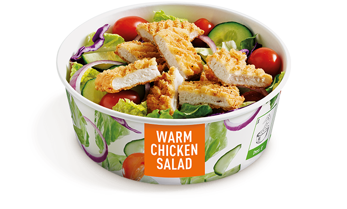 The new Warm Chicken Salad. With ingredients like crispy or grilled ...
