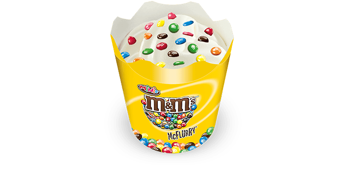 M&M'S MINIS McFlurry - Delicious tiny M&N's on a creamy soft serve
