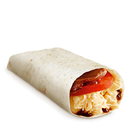 Bacon, Egg and Tomato Wrap