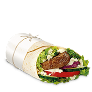 lamb and fetta mcwrap